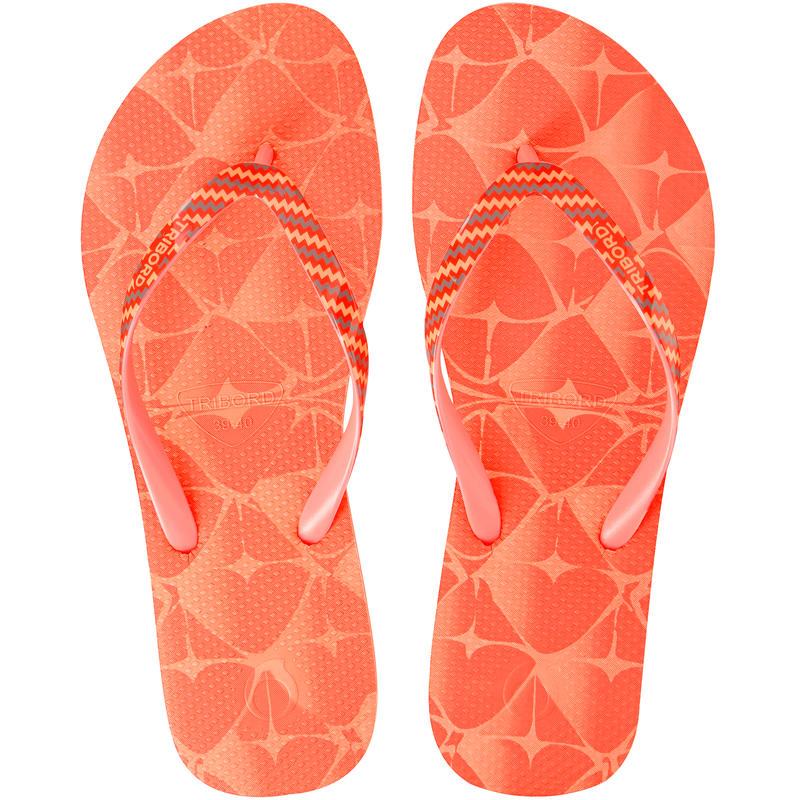 TO 500S PRINT W women's flip-flops - Pineapple nectarine
