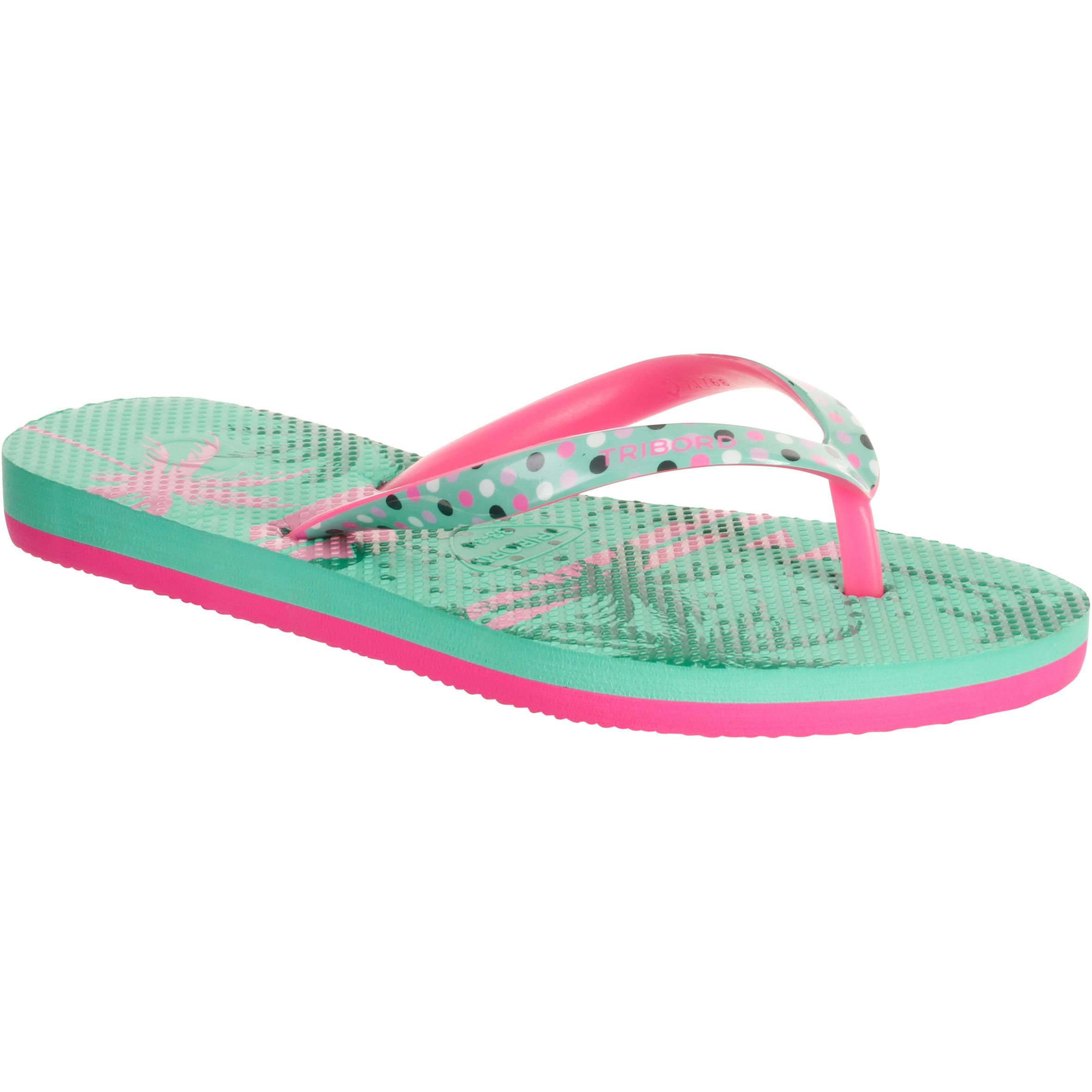 Sandales de plage pour fille TO 500 G Coco Vert