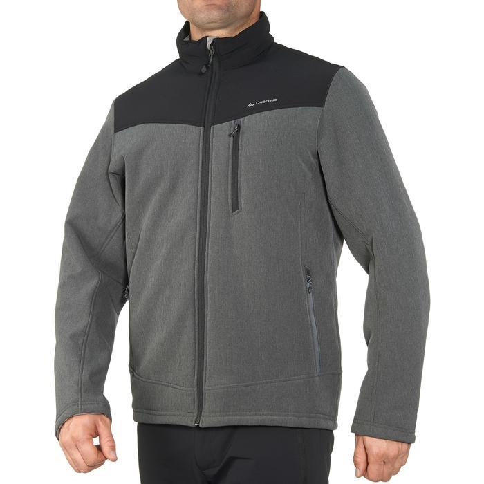 Veste trekking Windwarm 300 softshell homme gris