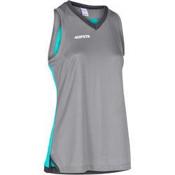 Basketbalshirt B500 mouwloos dames