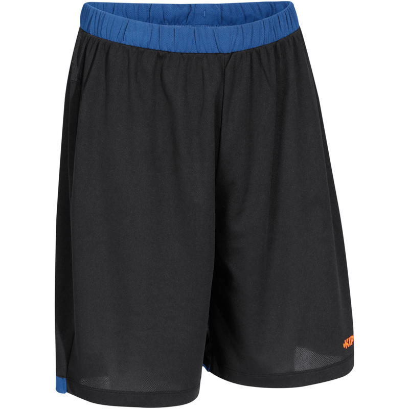 กางเกงบาสเก็ตบอลขาสั้นสำหรับผู้ชายรุ่น B500 (สีกรมท่า/ดำ/ส้ม)