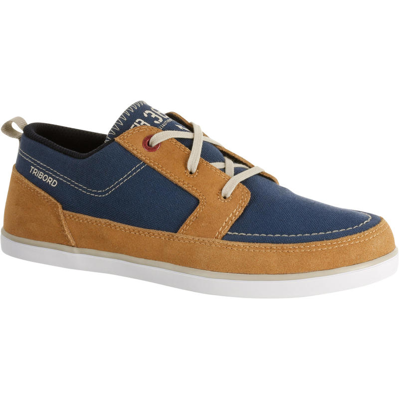 Kostalde Children's Boat Shoes - Blue/Brown