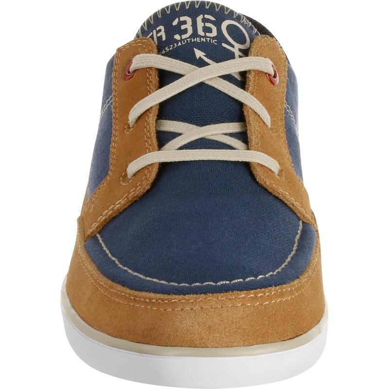 Kostalde Children's Boat Shoes - Blue/Brown