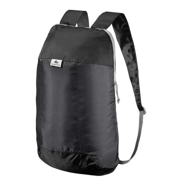 Ultra compact 10 litre black rucksack