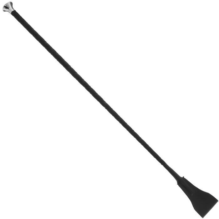Rijzweep Domino ruitersport zwart leer - 65 cm