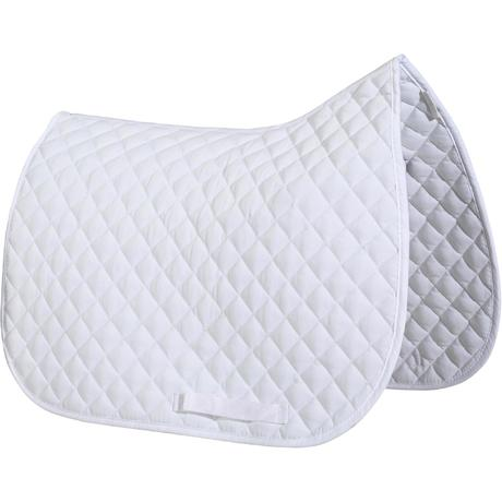 Tapis de selle quitation poney et cheval schooling blanc fouganza Tapis cheval decathlon