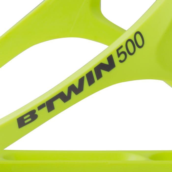 Portabidón bicicleta 500 amarillo fluorescente
