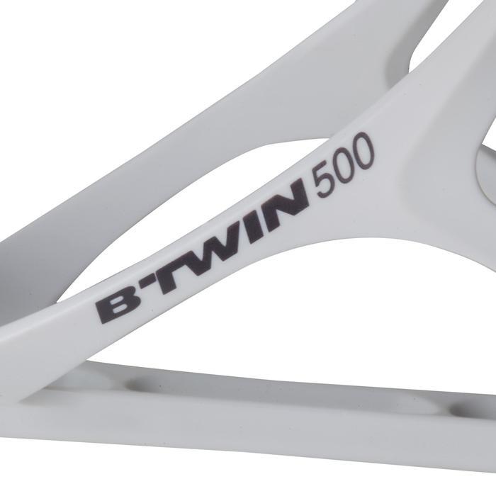 Portabidón Bicicleta Triban 500 Blanco Nieve Plástico