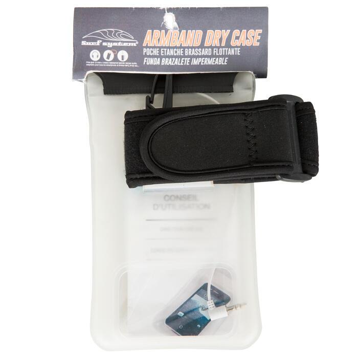 Beutel Handy wasserdicht IPX8 schwimmfähig mit Klettriemen Kopfhöreranschluss