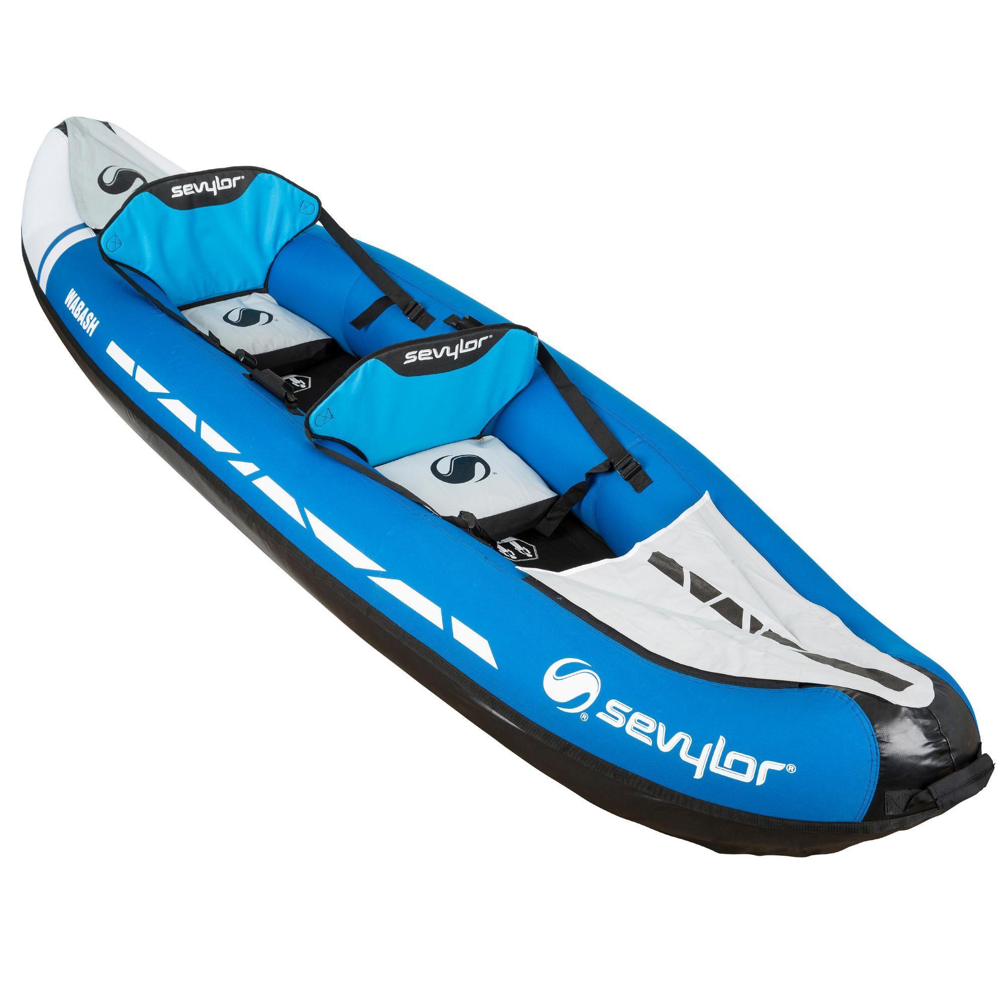 sevylor canoe kayak gonflable wabash 2 places bleu decathlon. Black Bedroom Furniture Sets. Home Design Ideas