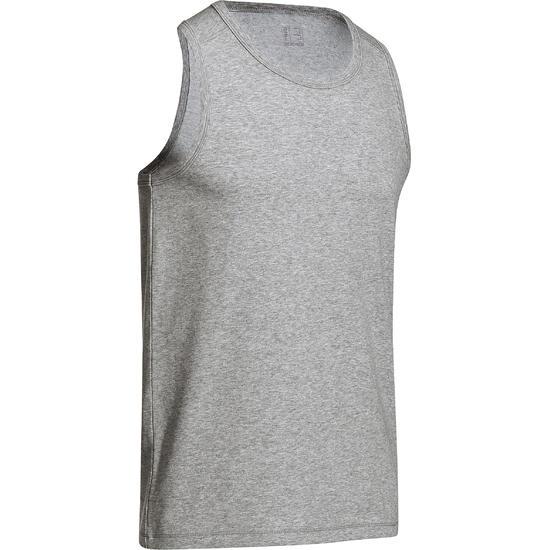 Mouwloos herenshirt voor gym en pilates - 747739