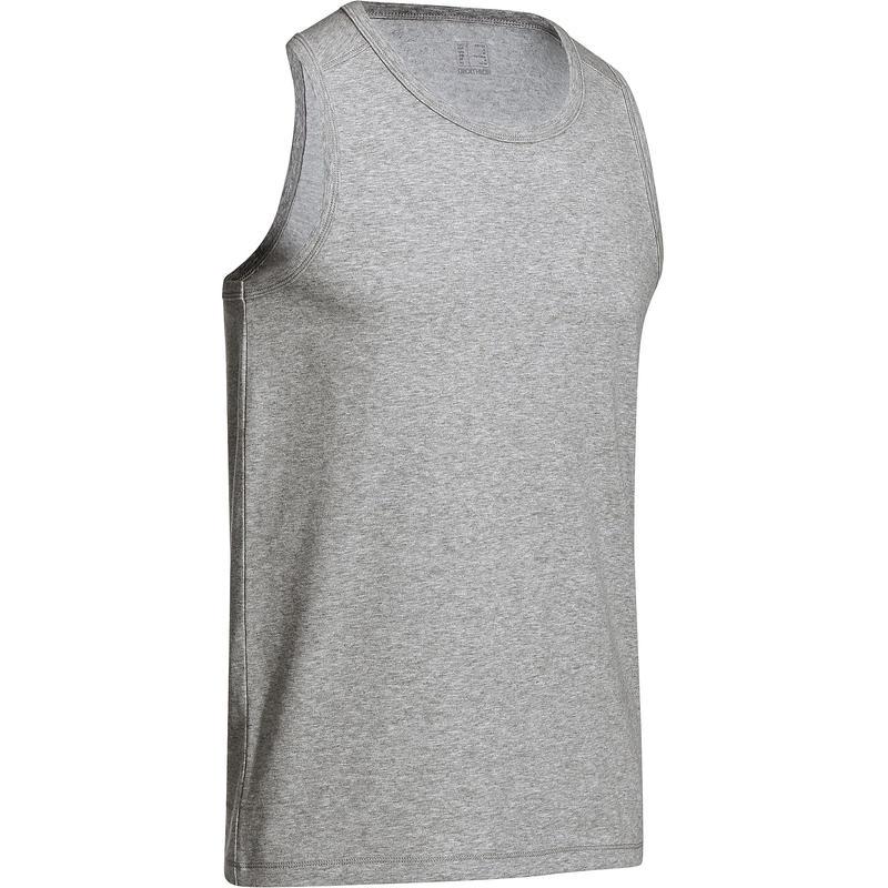 Gym & Pilates Tank Top - Mottled Mid Grey