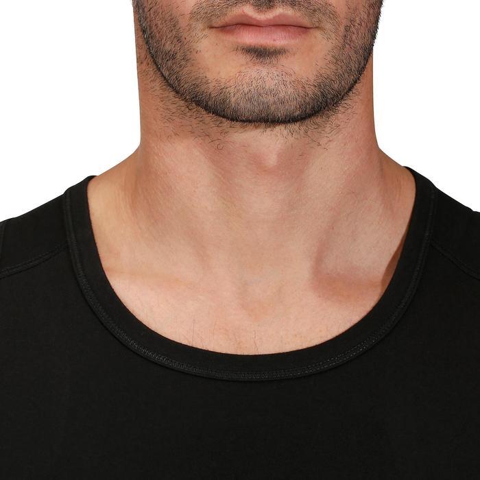 Camiseta sin mangas gimnasia y pilates hombre negro