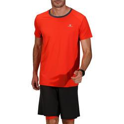 T-shirt fitness cardio heren geel met opdruk ENERGY - 748048