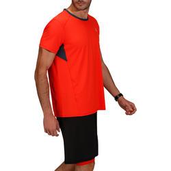 T-shirt fitness cardio heren geel met opdruk ENERGY - 748049