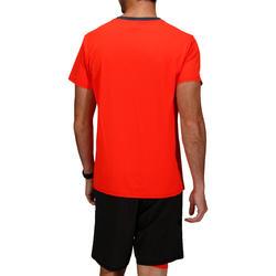 T-shirt fitness cardio heren geel met opdruk ENERGY - 748051