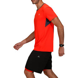 T-shirt fitness cardio heren geel met opdruk ENERGY - 748053