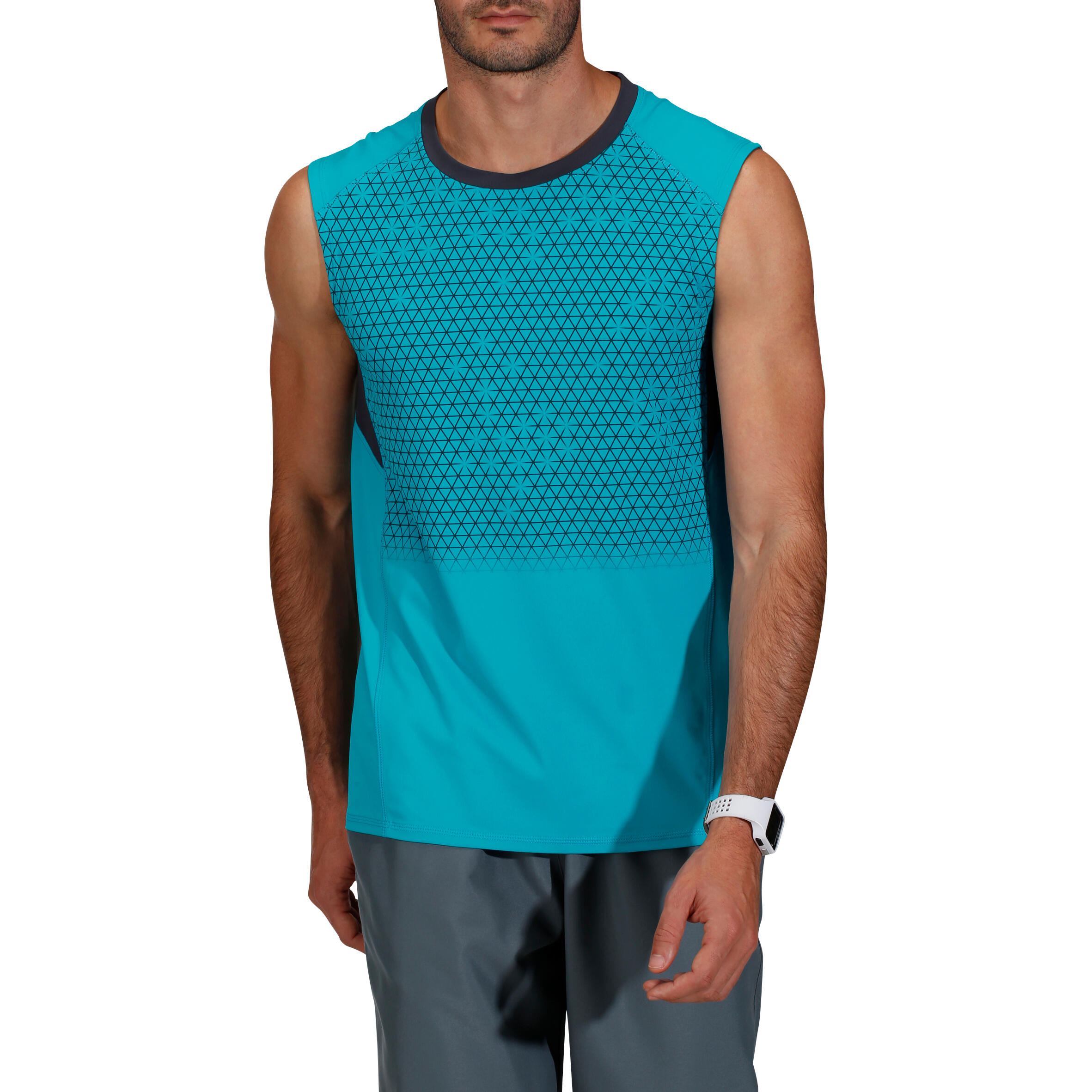 Energy 2nd P Fitness Print Tank Top - Blue