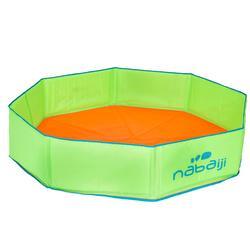 Pequeña piscina para niños TIDIPOOL+ verde y naranja con bolsa de transporte