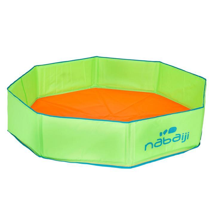 Petite piscine enfant TIDIPOOL+ verte et orange avec sac de transport