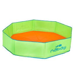 TIDIPOOL + small children's paddling pool with carry bag - green and orange