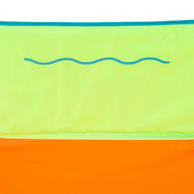 + NABAIJI Tidipool حمام سباحة 120سم قابل للطيّ مع حقيبة لحمله - أخضر/برتقالي