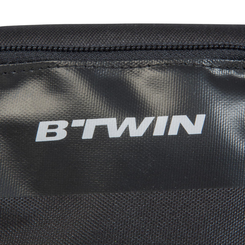 500 Double 1L Bike Frame Bag - Black