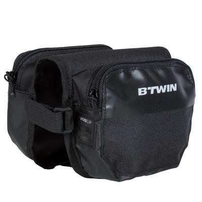 Подвійна велосипедна сумка 500 на раму - 1 л