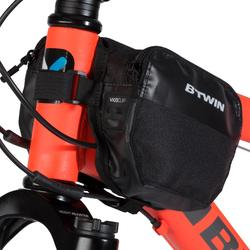 1 L雙層自行車架包500 - 黑色