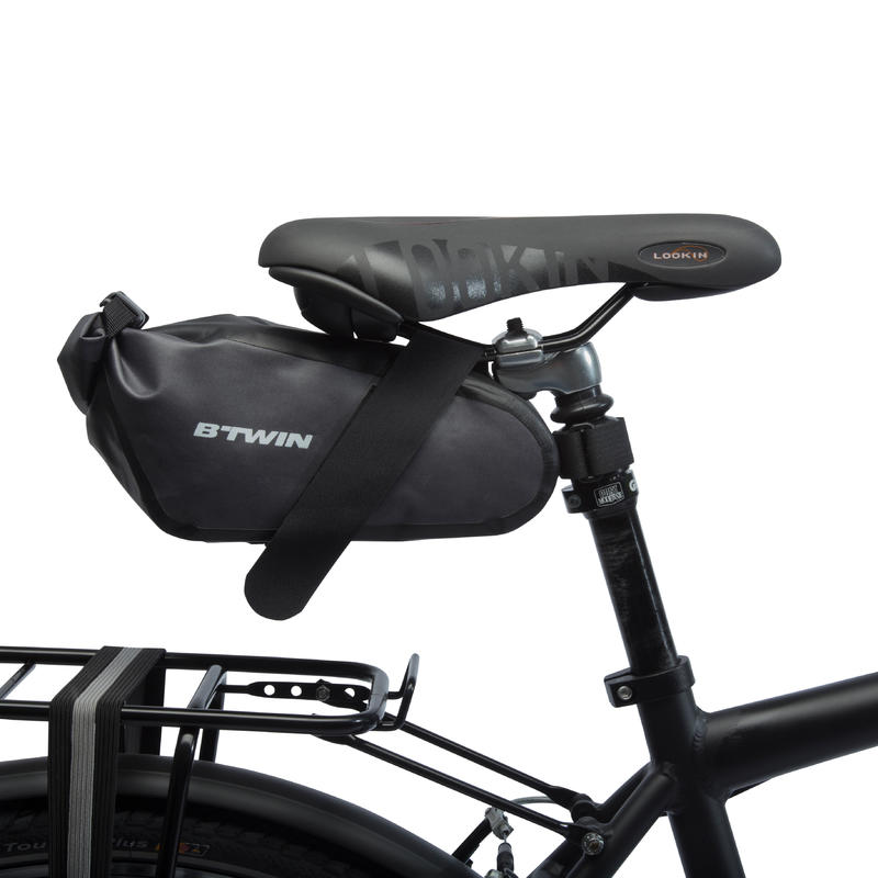 900 Waterproof Bike Saddle Bag 2.5 L - Black