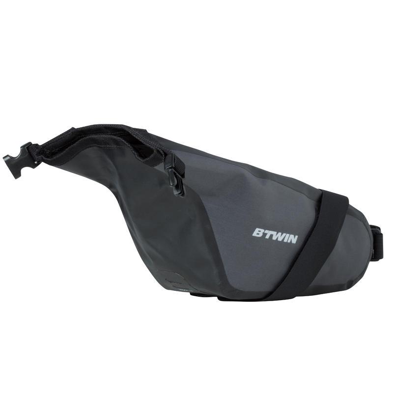 900 Waterproof Bike Saddle Bag 2.5 L - Black