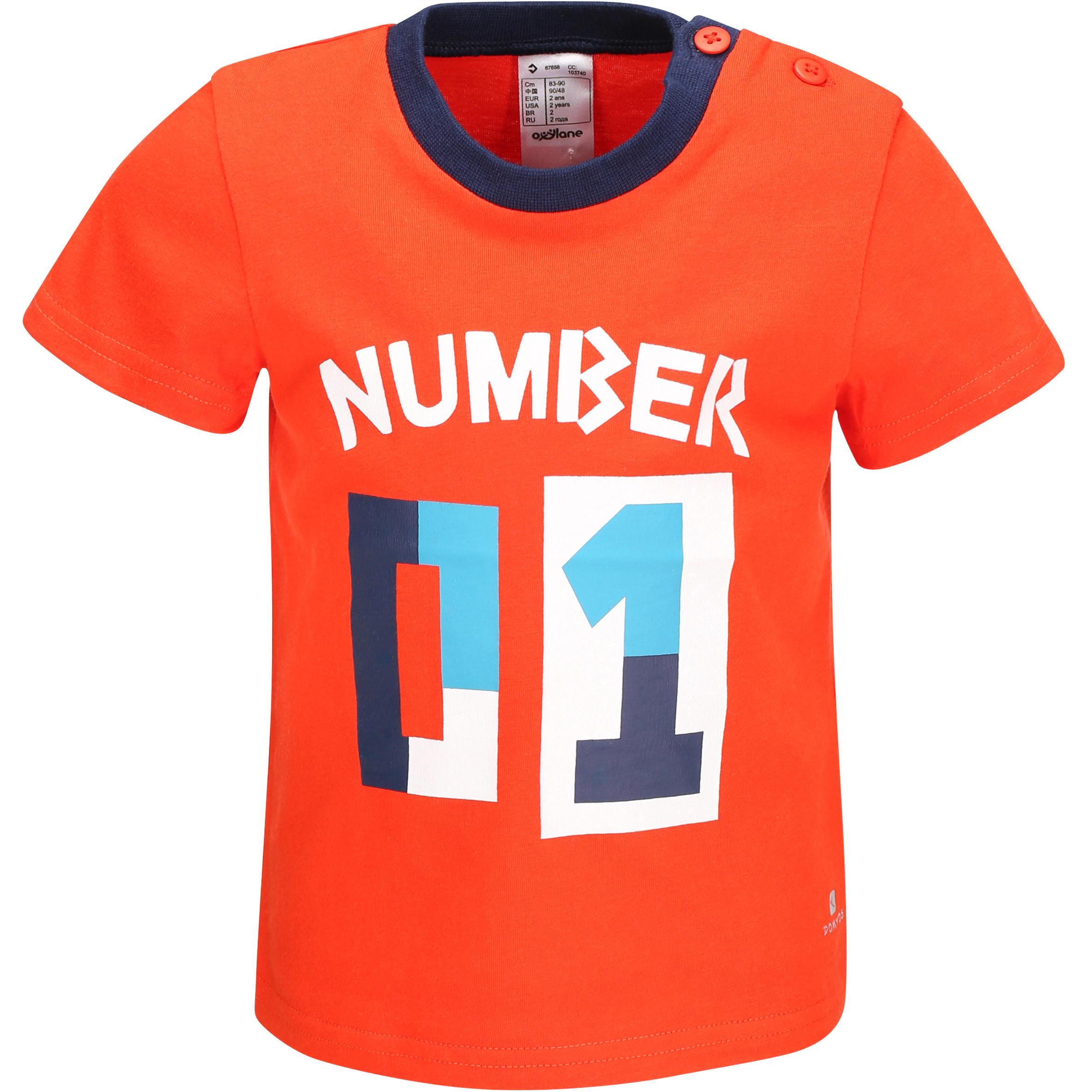 Baby Boys' Short-Sleeved T-Shirt - Merah