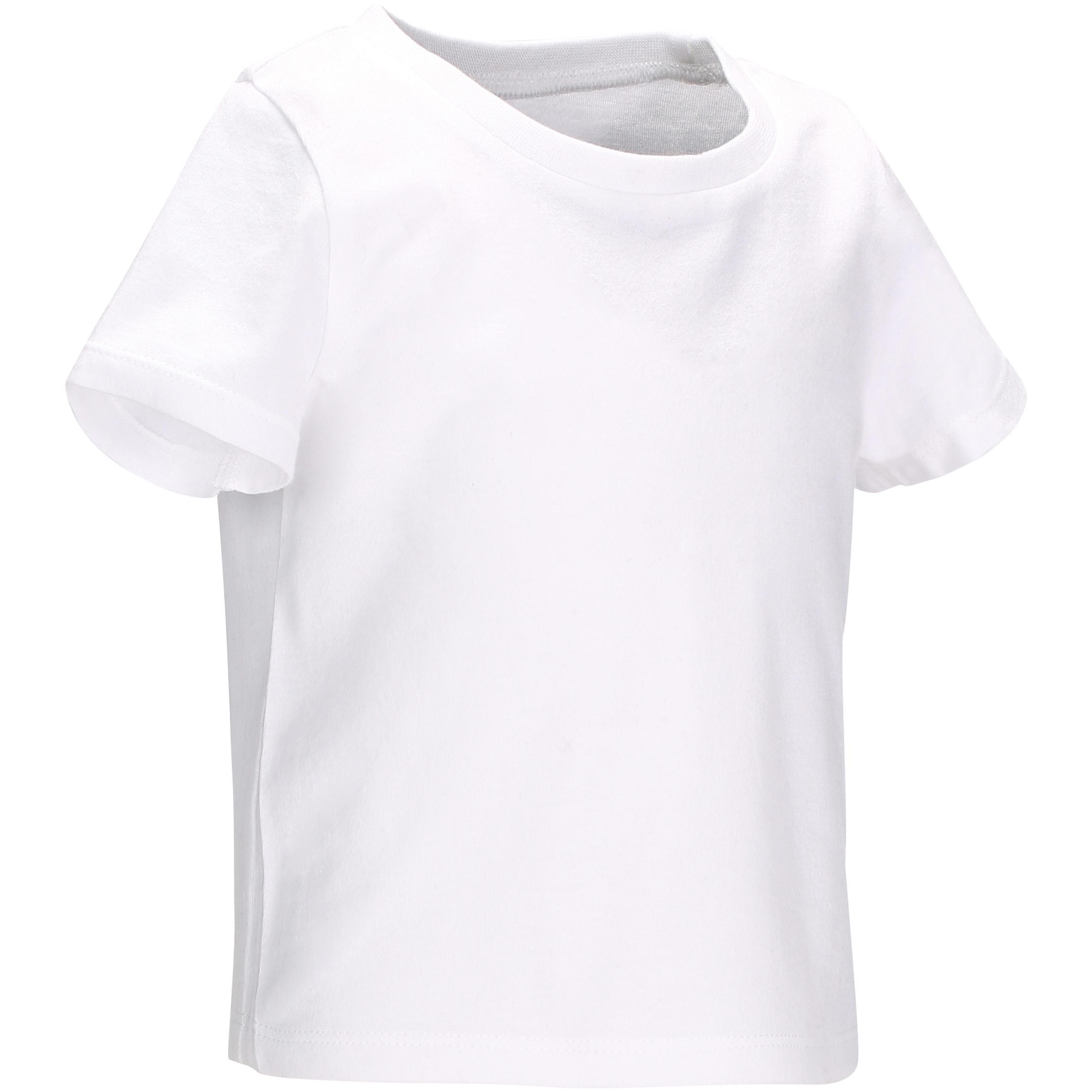 T-shirt manches courtes 100 Gymnastique bébé blanc
