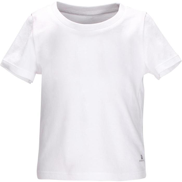 Camiseta de manga corta 100 Gimnasia infantil blanco