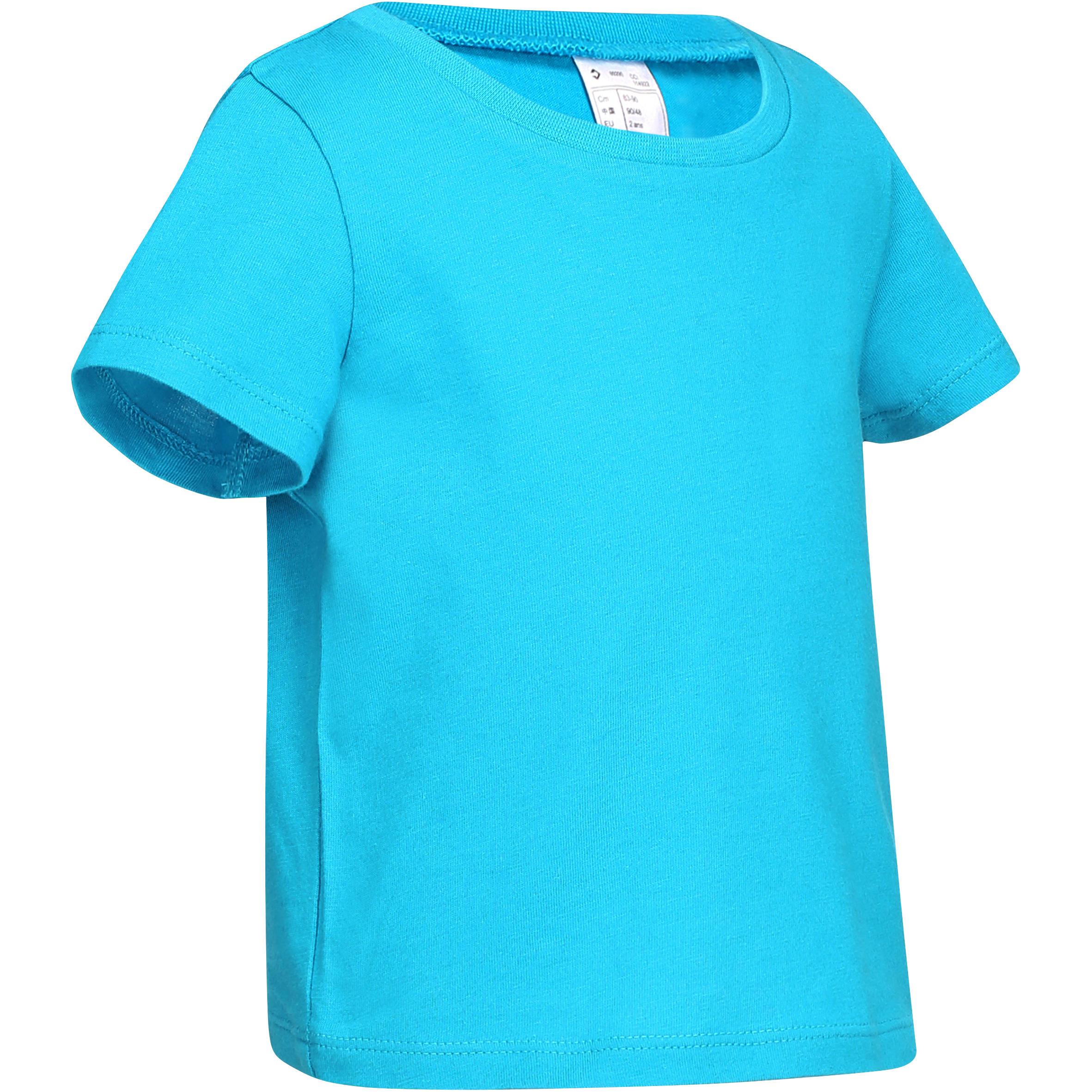 T-shirt met korte mouwen voor kleuters turkoois