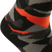 Wedze Firstheat LDT Socks - Camo. Black / Orange
