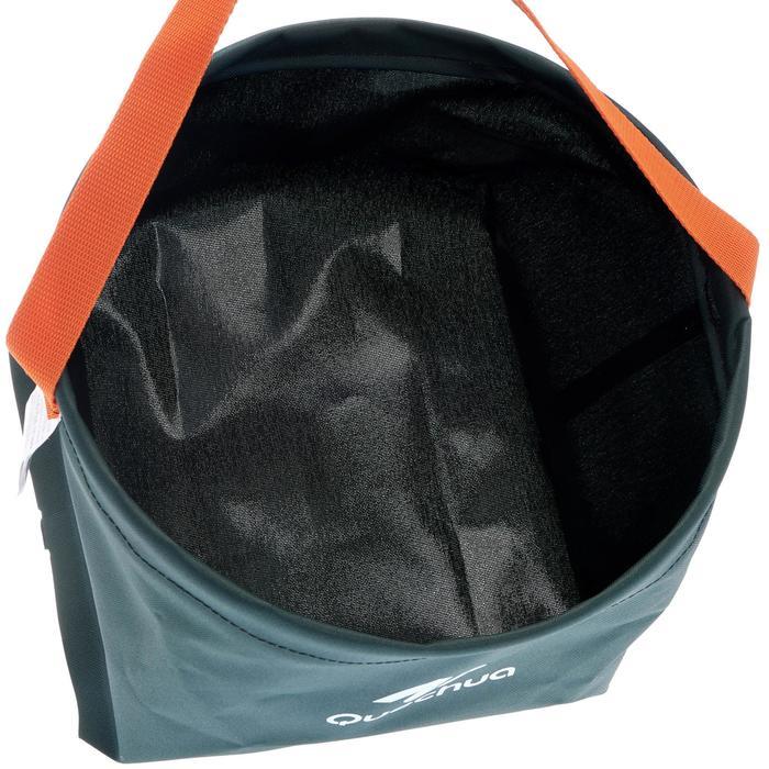 Opvouwbare waskom voor de camping / op bivak 8 l groen