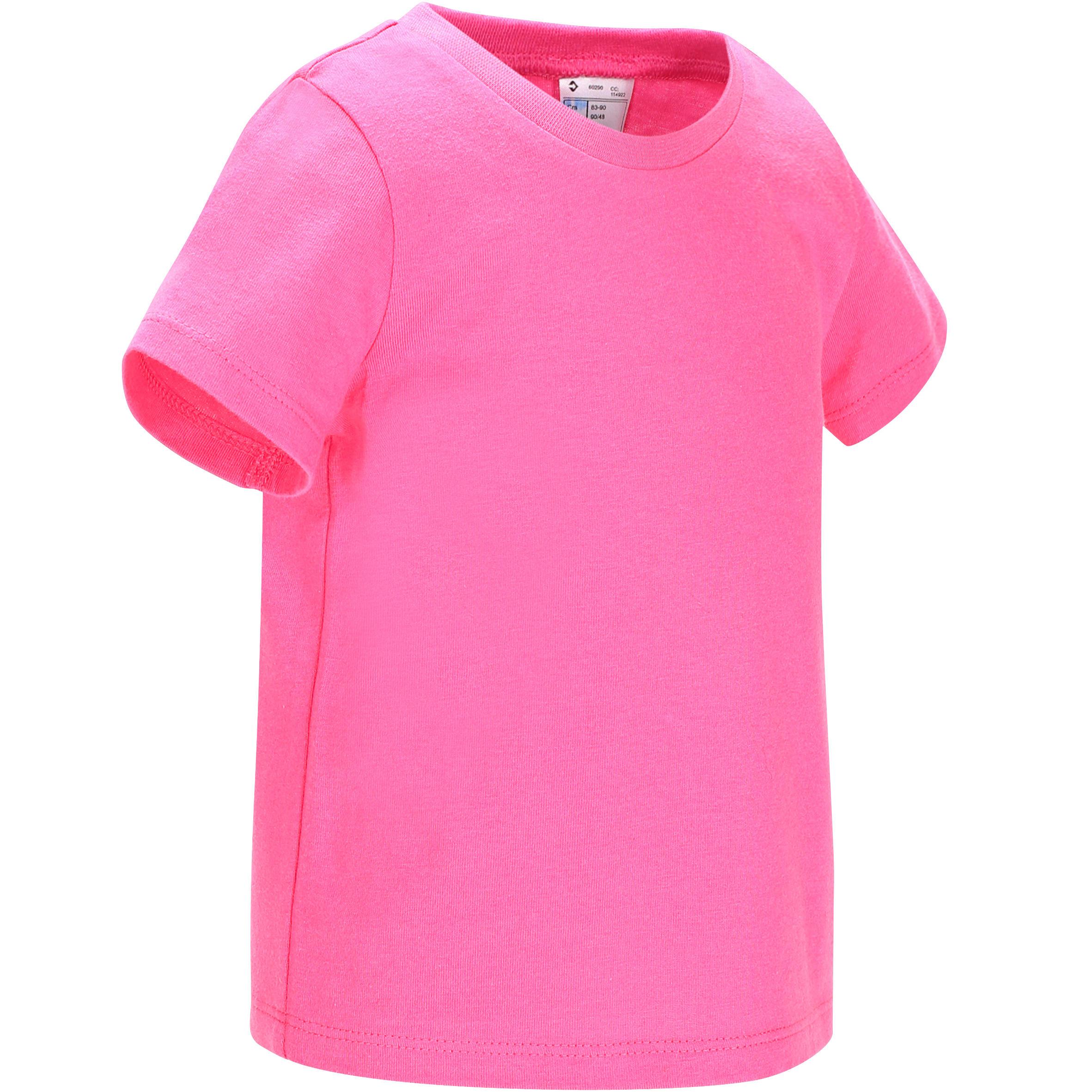 Baby T-shirt met korte mouwen roze