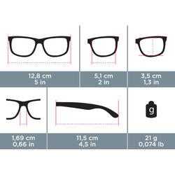 kacamata lari dewasa JOG 500 kategori 3 abu-abu merah muda