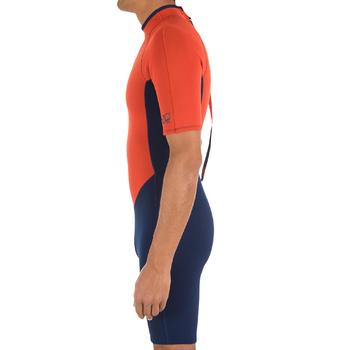 Combinaison Surf shorty100 Néoprène Homme Bleu Orange