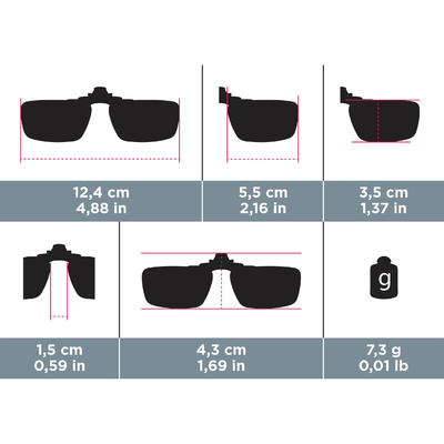 120 Small Category 3 Polarising Clip For Glasses