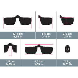 Polariserende zonneclip Vision 300 voor bril op sterkte, categorie 3 - 749934