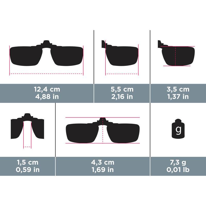 Clip-on adaptable para lentes ópticos VISION CLIP 300 SMALL polarizados CAT3
