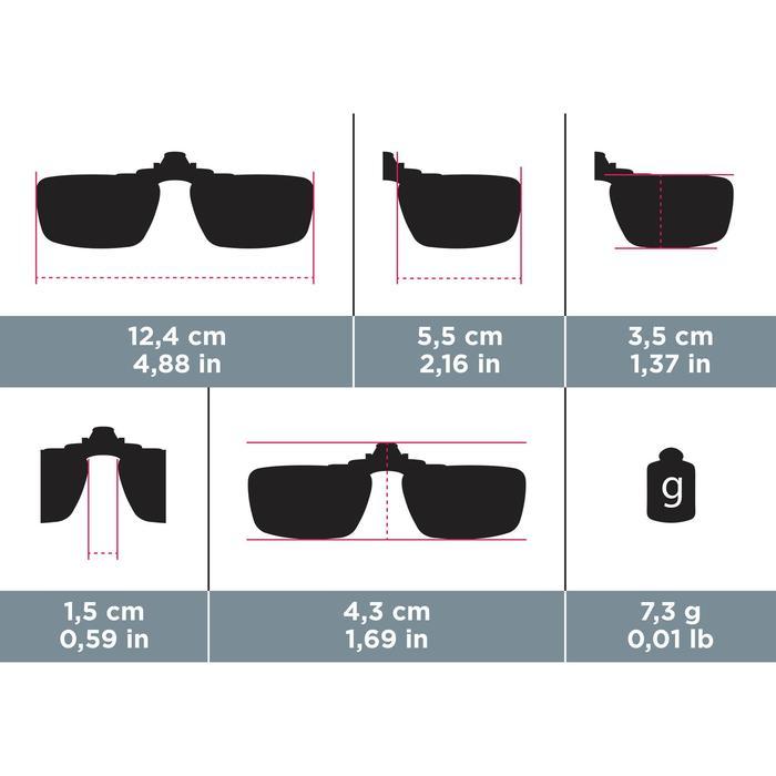 Clip adaptable sur lunettes de vue CLIP 120 L polarisant catégorie 3 - 749934