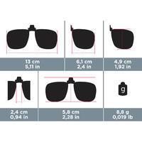 Adapt. clip for prescription glasses - MH OTG 120 Large - polarising category 3