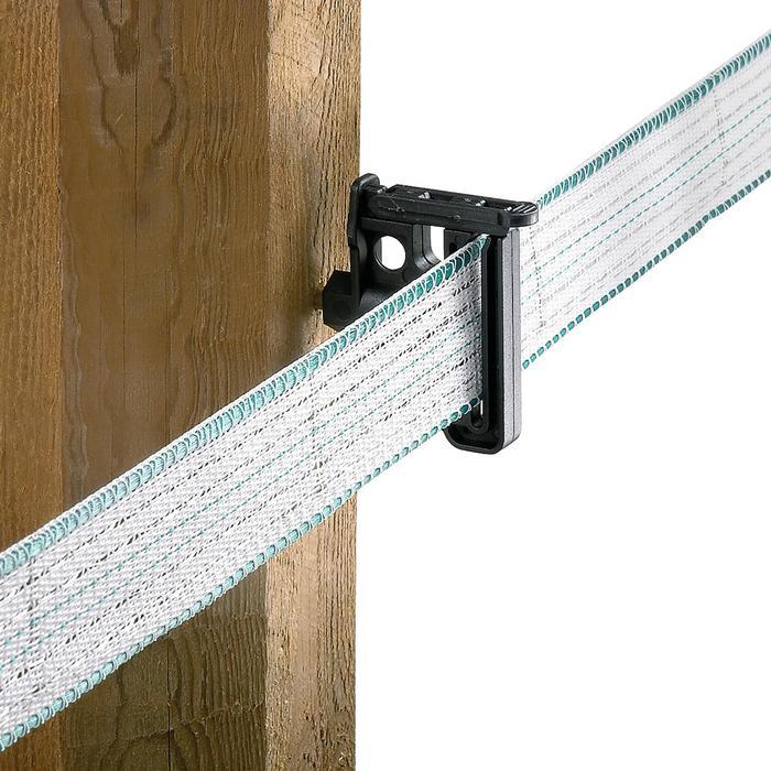 Isolateurs pour ruban et cordelette de clôture équitation Maxitape Duo noir x30 - 750368