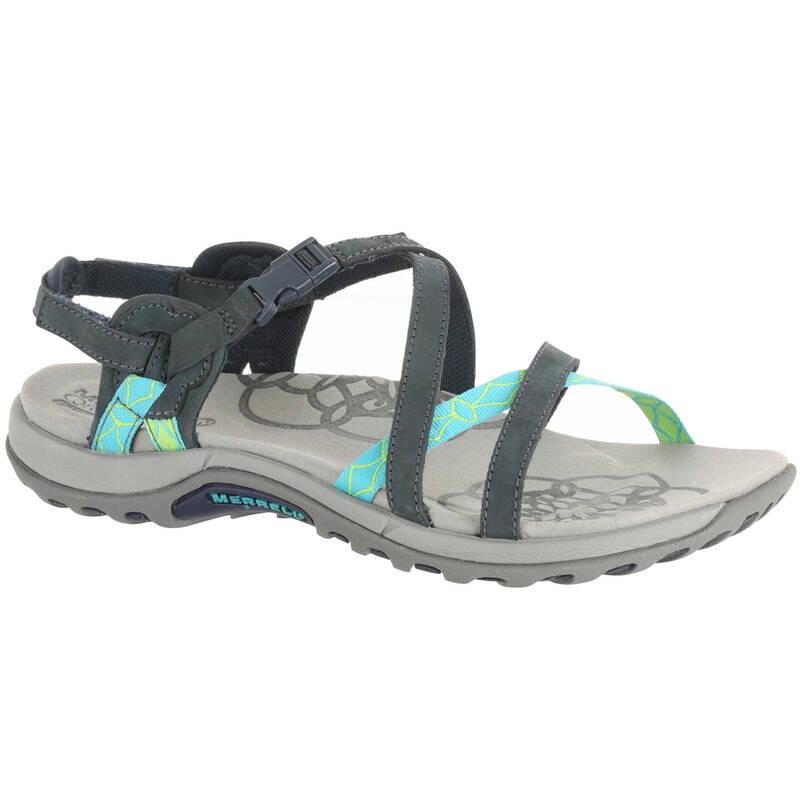 DÁMSKÉ SANDÁLY DO TEPLÉHO POČASÍ Turistika - Sandály Jacardia šedé MERRELL - Turistická obuv