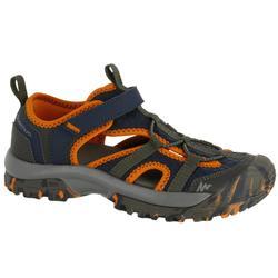 兒童健行運動涼鞋 NH900 JR 藍色/橘色