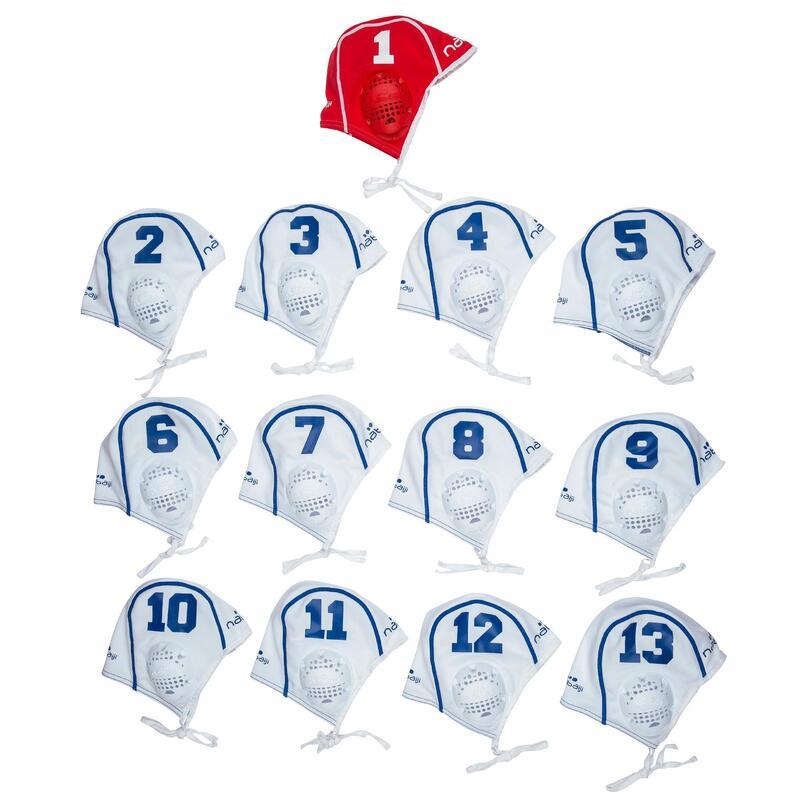 Lot de 13 bonnets water polo adulte blanc