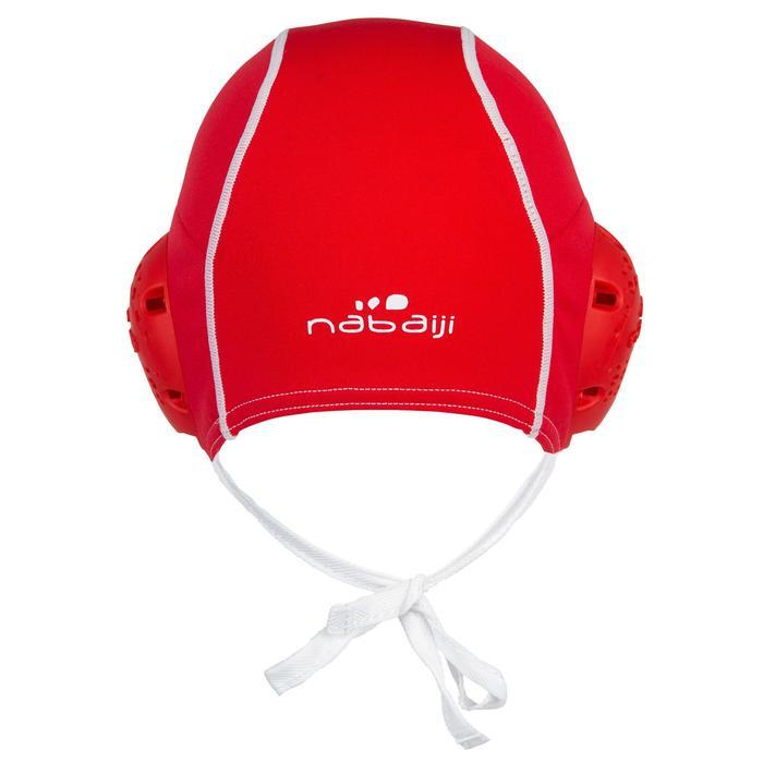 Bonnet water polo adulte entrainement rouge